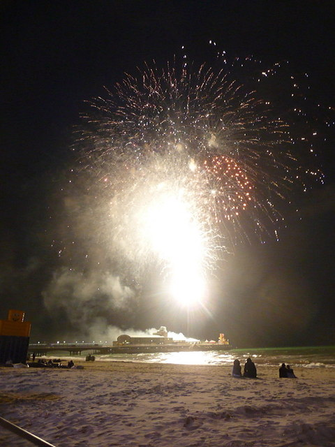 Bournemouth: an Olympic firework display