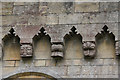 SK8572 : Corbels at Thorney Church  by Alan Murray-Rust