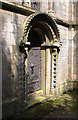SK8572 : Priest's doorway, Thorney Church  by Alan Murray-Rust
