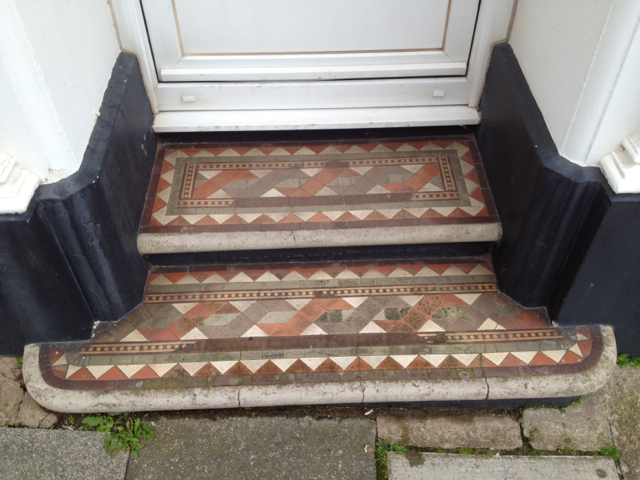 Tiled steps, Richmond House, No 20 Fore Street