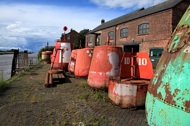 Buoys on Purfleet Quay