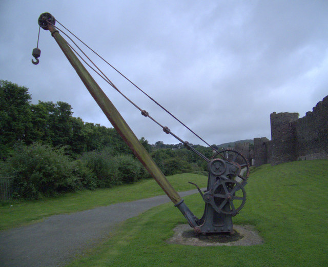 Crane in Conwy