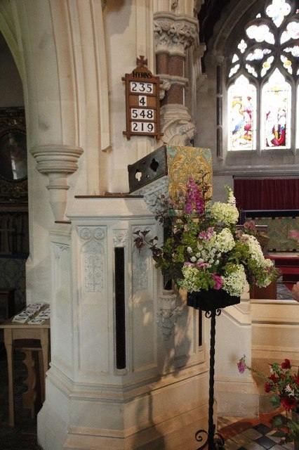 Flowers by the Pulpit