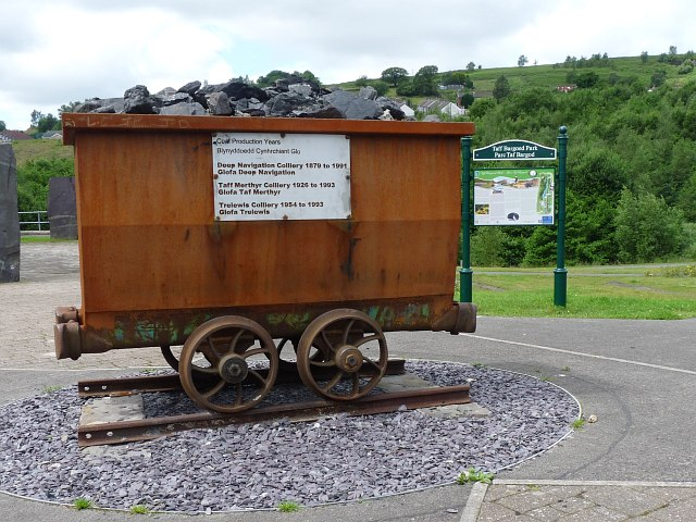 A reminder of the past, Taff Bargoed Park