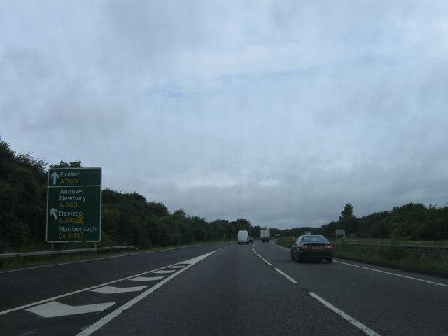 A303 westbound
