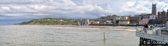 Cromer beach from the pier