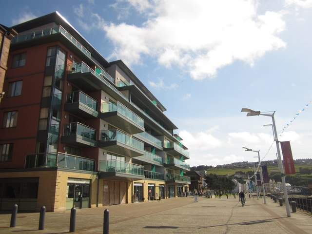 Apartment building, Whitehaven Marina