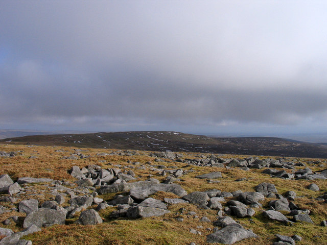 Rocks at summit area of Mickle Fell