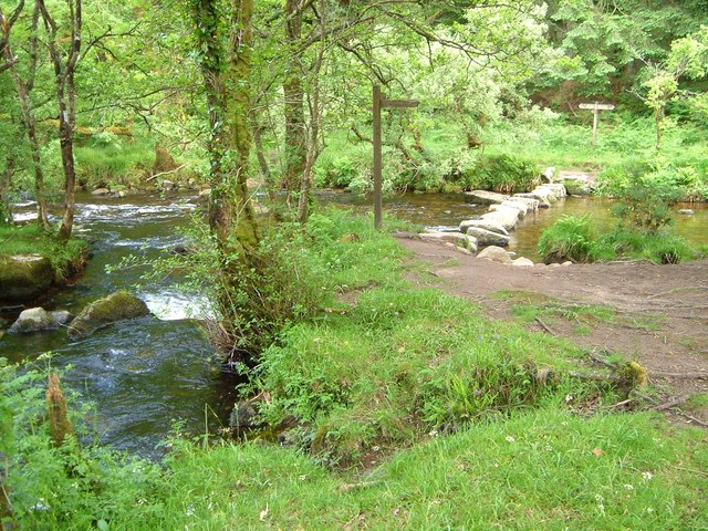 Junction of Walla Brook and East Dart