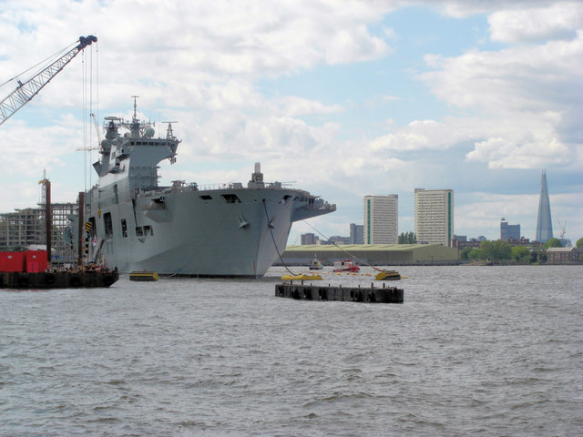 Greenwich Reach hosts HMS Ocean