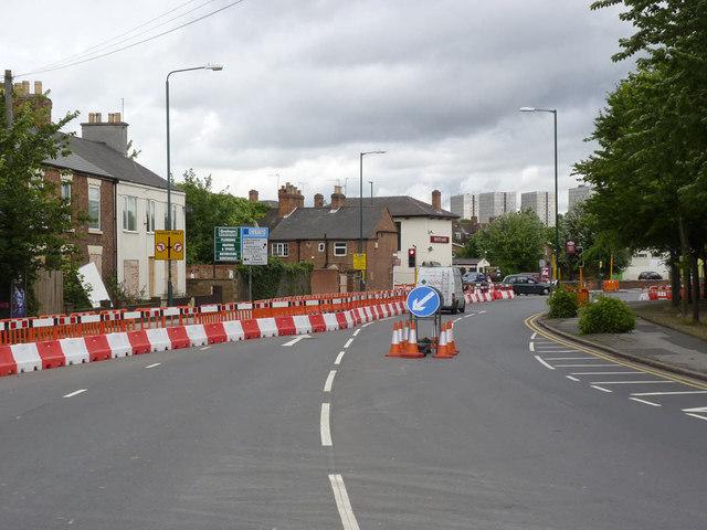 Lenton Lane crossroads