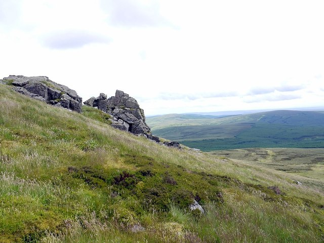 Hanging Stone below Cairn Hill, Cheviot