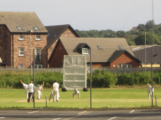 Cricket match in progress, Whitehaven
