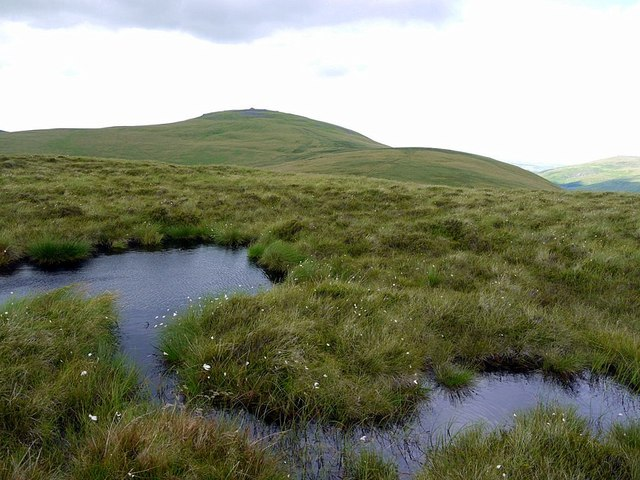 Peaty pools on Birnie Brae south of The Schil