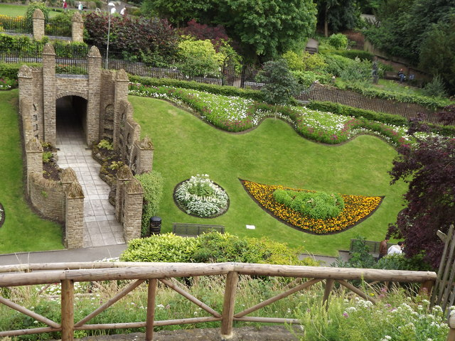Guildford Castle Gardens from the Motte