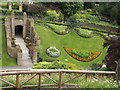 SU9949 : Guildford Castle Gardens from the Motte by Colin Smith