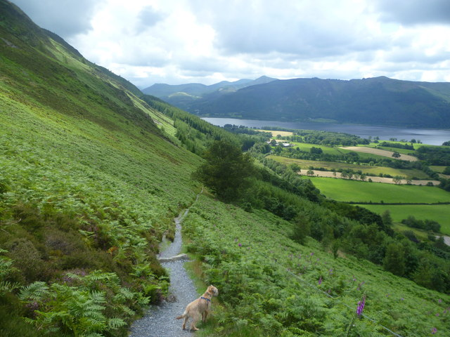 Descending Ullock Pike