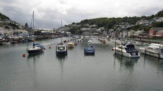 Looking Down the River at Looe