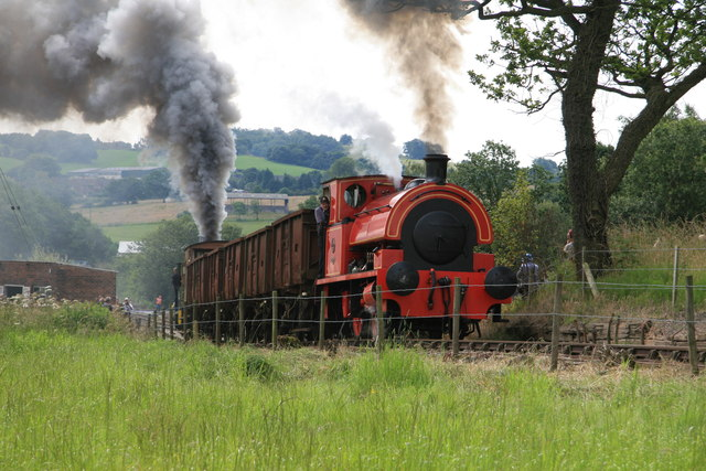 Foxfield Railway - tackling the bank