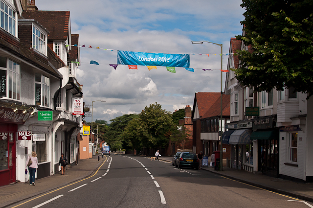 West Street - ready for the Olympic Torch
