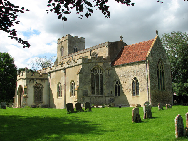 All Saints church in Chelsworth
