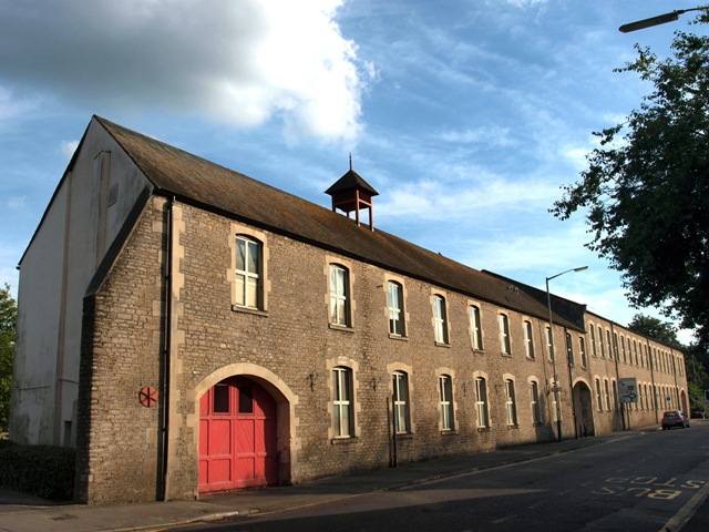 The old creamery besides the River Avon at Chippenham