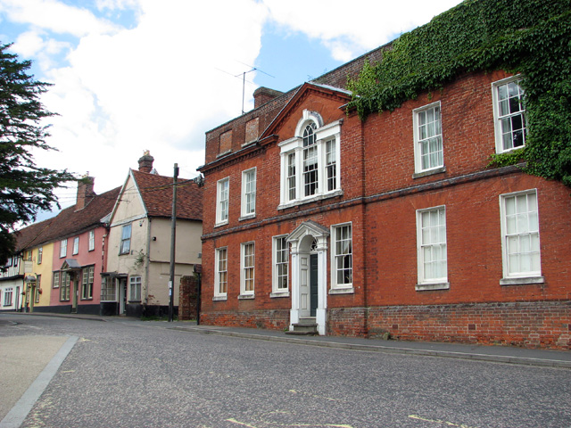 Houses along Bildeston Highstreet