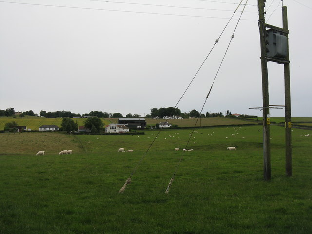Pasture at Burnshot, with transformer