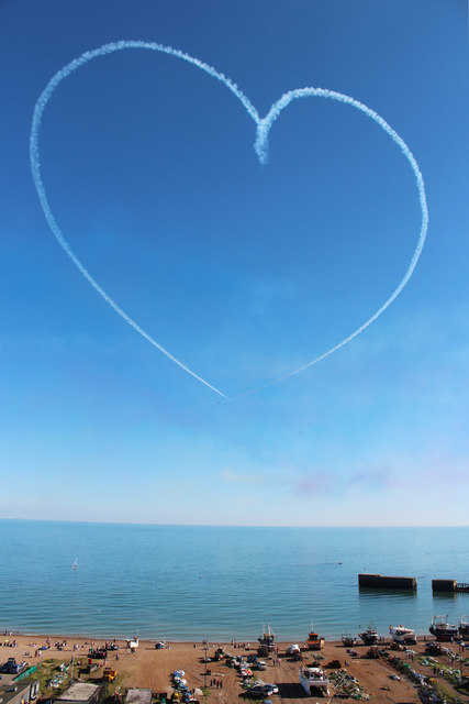 Love Heart over the harbour Arm