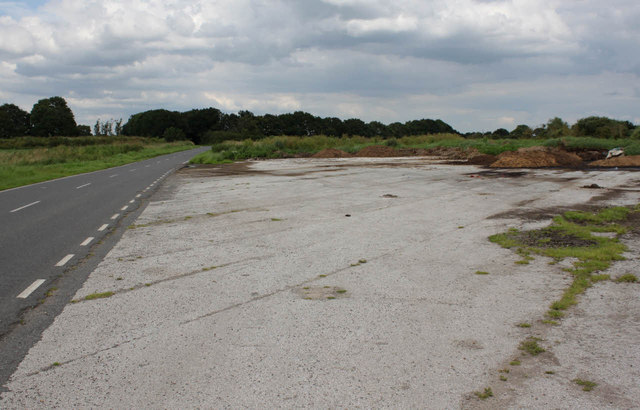 Remains of Wigsley airfield