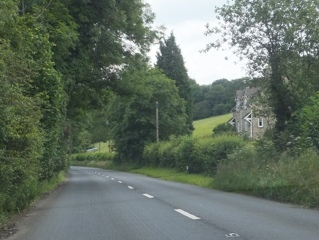 The A435 south of Marsden