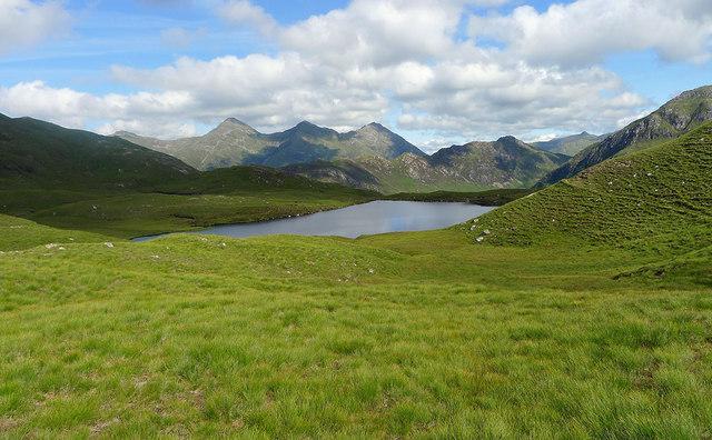 Grass above Loch Coire nan Crogachan