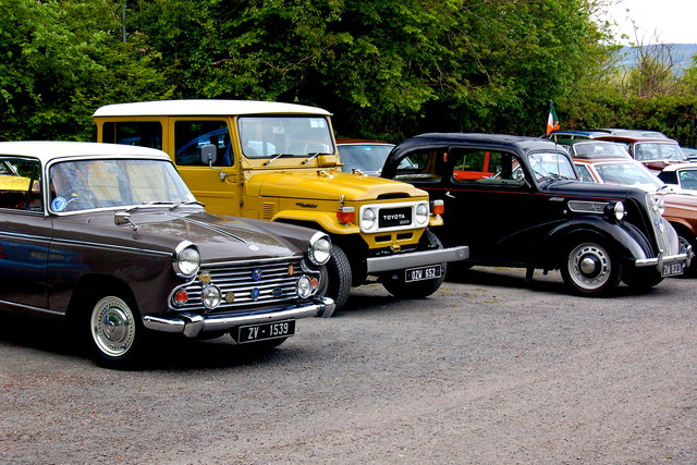 Bunratty Park - Classic Vehicles in Event Field 