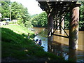 SO5309 : Paddlers under the Penallt Viaduct by Jeremy Bolwell
