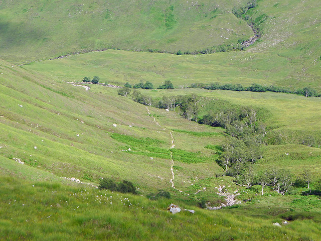 The stalkers' path beside the Allt na h-Innse Gairbhe