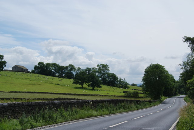The A65 near Settle Junction