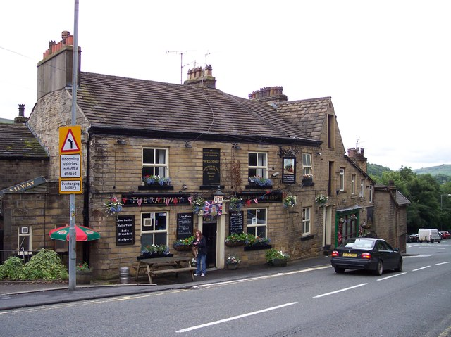 The Railway public house at Greenfield