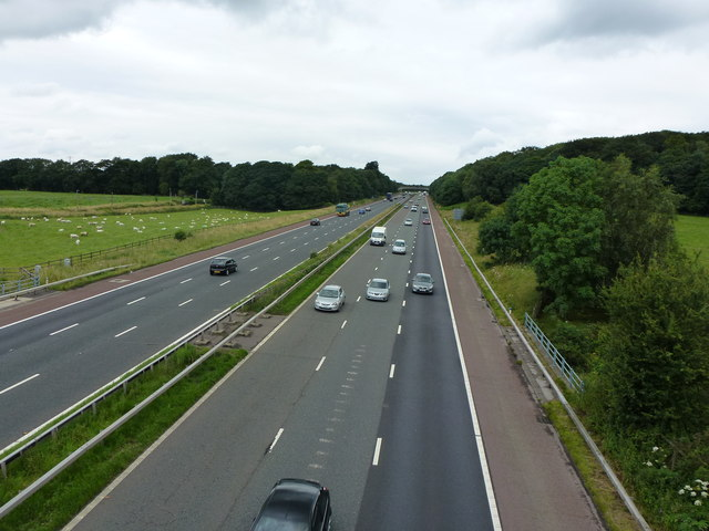 M6 looking north...