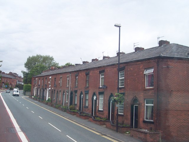 Terraced housing on Lees Road
