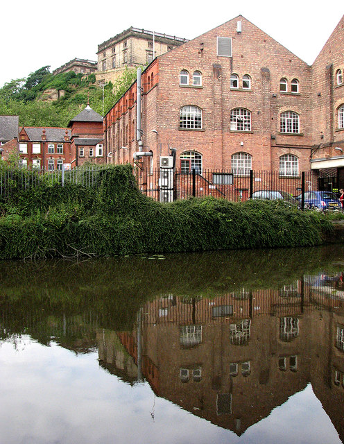 Canal reflections and Nottingham Castle