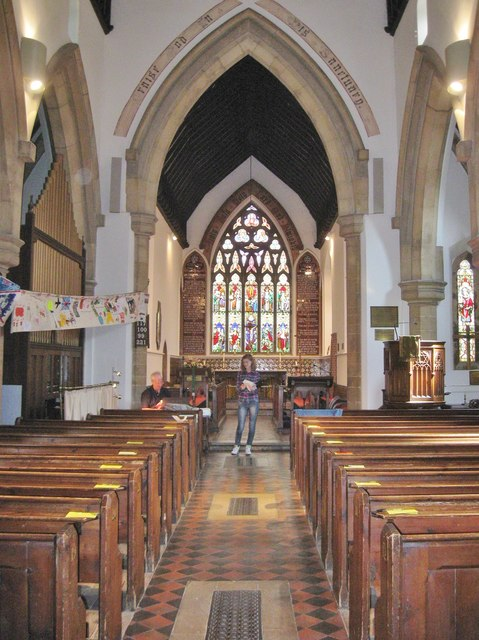 Interior of St Mary's Church. Carlton on Trent.  Nottinghamshire