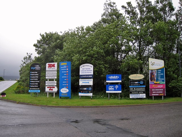 Signs at the business park