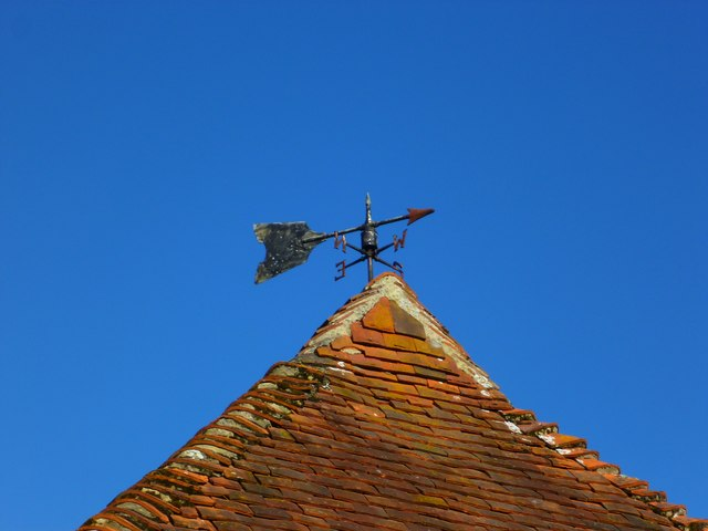 Weather vane at Rotherbridge Farm
