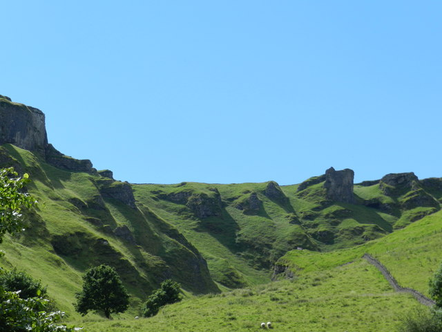 Top rocks of Winnats Pass