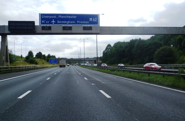 Motorway Gantry At Junction 19 Of The Anthony Parkes