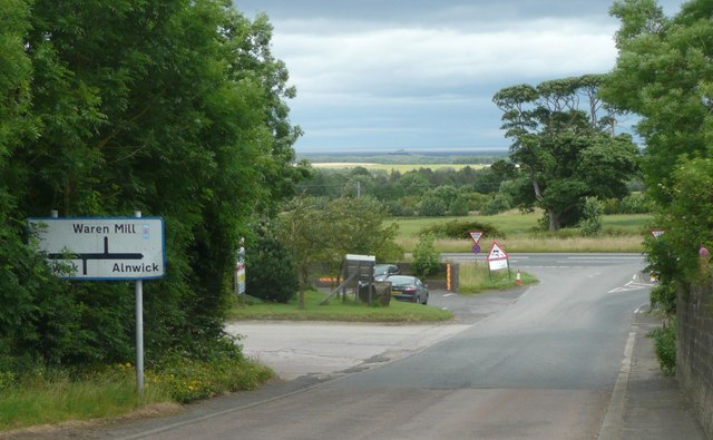 Approaching the A1 north east of Belford