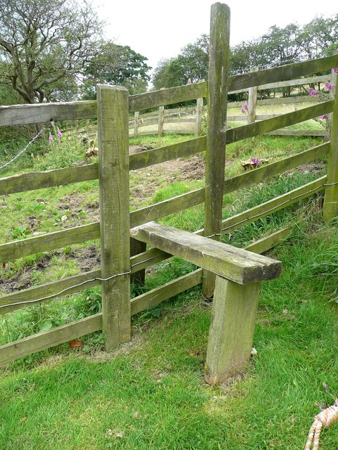 Stile on Hebden Royd Footpath 51 off Park Lane