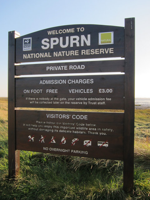 Spurn Head entrance sign