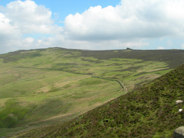 View northeast from Whinstone Lee Tor