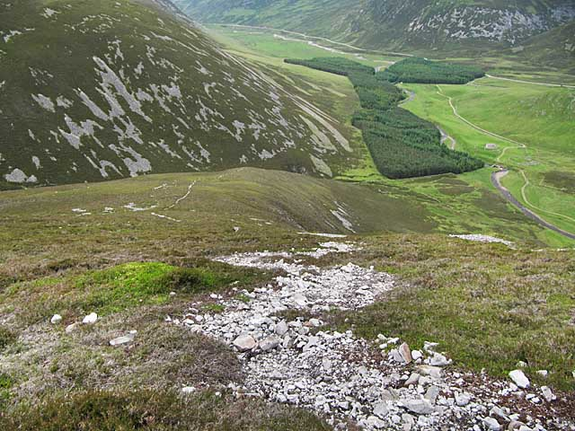 Looking down to Baddoch from Sgor Mor